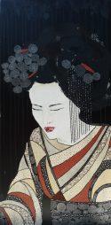 « Akemi », 60x90. Acrylique et Washis.