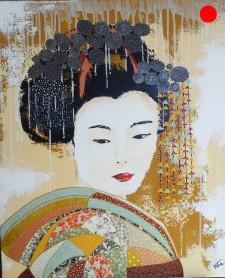 """""""Takae"""", 60x73.Acrylique et Papiers précieux japonais.ACQUISE"""